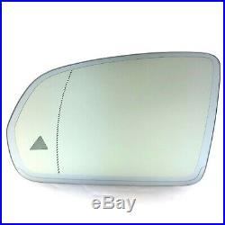 MIRROR GLASS for MERCEDES BENZ C E S W222 W205 AUTO DIM BLINDSPOT HEATED DRIVER