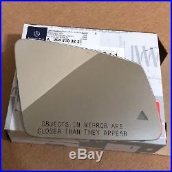 Mercedes Benz E250 E350 E400 E550 E63 RIGHT Mirror Heated Glass Blind Spot Alert
