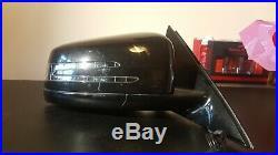 Mercedes E Class W212 Wing Mirror Os Black Folding Auto Dim. Heated blind spot