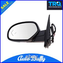 Mirror Power Folding Heated Signal Memory Blind Spot Puddle Chrome LH Fits GM