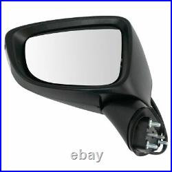 Mirror Power Turn Signal Blind Spot Detection Smooth Black LH RH Pair for Mazda