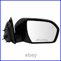 Mirror RH Side Power Fold Heated Blind Spot Checkered Finish for Expedition