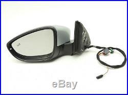 Mk6 Vw Jetta Gli Left Driver's Door Power Mirror Blind Spot Lane Assist Oem -812