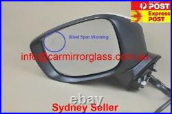 NEW DOOR MIRROR FOR MAZDA CX-3 2015-2020, With Blind Spot Monitor(Left, White,)