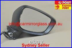 NEW DOOR MIRROR FOR MAZDA CX-5 2015-2016 No BlindSpot 8 Wires (Right, White,)