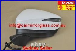 NEW DOOR MIRROR FOR MAZDA CX-5 2015-2016 WITH BlindSpot 9 Wires (Left, White,)