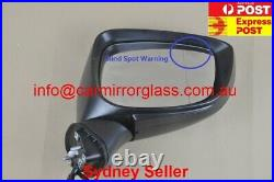 NEW DOOR MIRROR FOR MAZDA CX-5 2015-2016 WITH BlindSpot 9 Wires (Right, White,)