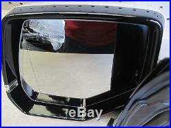 New 2015-2017 Gm Lh Left Driver Rear View Door Mirror Camera Surround 360 White