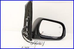 OEM DOOR MIRROR TOYOTA SIENNA POWER RH HEATED BLIND SPOT 13-18 grey nice 1H1