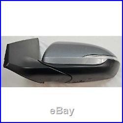 OEM Factory Side View Door Mirror Blind Spot LH Left Gray For Hyundai Elantra