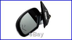 OE LH Power Fold Mirror Arrow Blind Spot 9-14 Escalade Yukon Tahoe Chrome DL3UFT