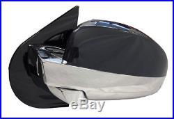 OE LH Powr Fold Mirror Arrow Blind Spot 9-14 Escalade Yukon Tahoe Chrome DL3 UFT