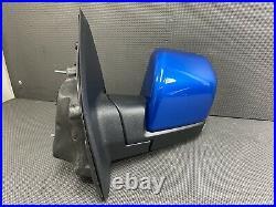 Oem 2015-2020 Ford F150 F-150 Left Door Mirror Led Blind Spot Power Fold Blue