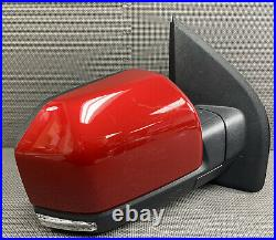 Oem 2015-2020 Ford F150 F-150 Right Door Mirror Led Blind Spot Power Fold Red