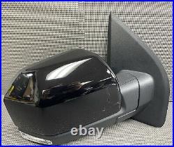 Oem 2015-2020 Ford F150 Right Door Mirror Loaded Camera Blind Spot Led Black
