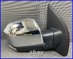 Oem 2015-2020 Ford F150 Right Rh Door Mirror Glass Camera Blind Spot Chrome