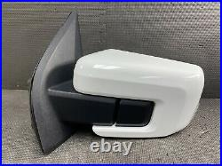 Oem 2021 Ford F150 Driver Side Blind Spot Door Mirror Power Fold Oxford Wht