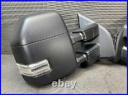 Oem 2021 Ford F150 Pair Loaded Camera Blind Spot Trailer Tow Door Mirror Set