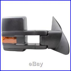 Pair Set Performance Tow Mirrors Heated Blind Spot Glass for 07-18 Toyota Tundra
