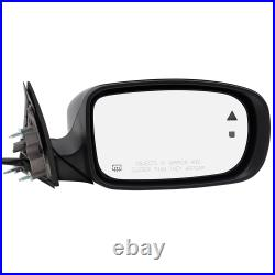 Pair Set Power Side Mirrors for 11-18 Dodge Charger Heated Blind Spot Detection