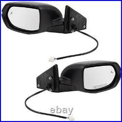 Pair Side Mirrors for 17-18 Honda CR-V Power Heated Signal Blind Spot Detection