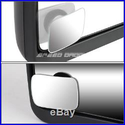 Power Chrome Heat Smoked Signal Tow+square Blind Spot Mirror For 02-09 Dodge Ram