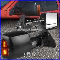 Power Heat Tow Mirror Side Led Signal+blind Spot Square Convex For 07-16 Tundra