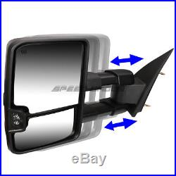 Power Heated Amber Signal Towing Side+round Blind Spot Mirror For 14-17 Gm K2xx