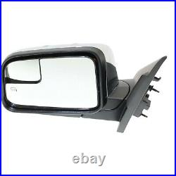 Power Mirror For 2010 Lincoln MKX Left Manual Fold Chrome with Blind Spot Glass