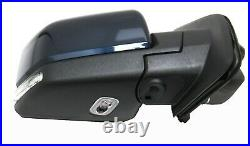 SH5DDV RH Side Mirror Blind Spot Led Signal Puddle Camera Blue 2015-19 Ford F150