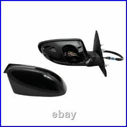 Side View Mirror Pair Power Heated Blind Spot Detection For Dodge Charger