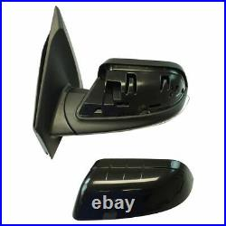 TRQ Exterior Power Heated Puddle Light Blind Spot Signal Mirror Pair for Ford