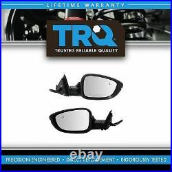 TRQ Mirror Pair Power Heated Turn Signal Blind Spot PTM LH RH for Accord Sedan