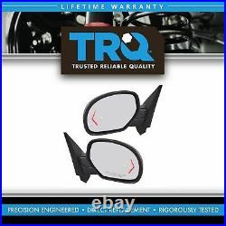 TRQ Mirror Power Folding Heated Signal Memory Blind Spot Puddle Chrome Pair