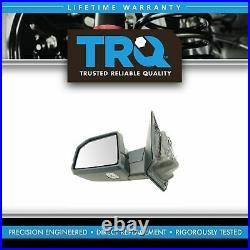 TRQ Power Folding Heated Memory Signal Blind Spot Puddle Chrome LH for Ford