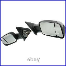 Tow Mirror Set For 2002 2009 Dodge Ram 1500 Left & Right Power Heat Blind Spot