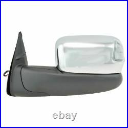 Towing Mirror Power Heated Signal Blind Spot Chrome Pair for Toyota Tacoma New