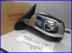 Toyota Sequoia Left Driver Outer Chrome Mirror Blind Spot Genuine OE OEM
