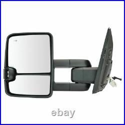 Trail Ridge Tow Mirror Upgrade Power Fold Turn Blind Spot Chrome Pair for Tundra