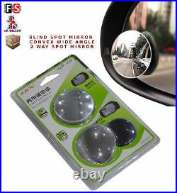 Universal Car Blind Spot Mirror Convex Wide View Angle 2 Way Mirror-aud1