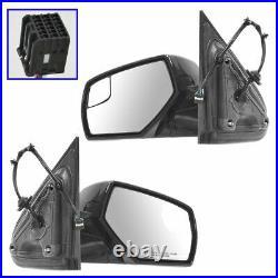 Upgrade Style Mirror Power Heat Blindspot Chrome Black Pair for Chevy Pickup
