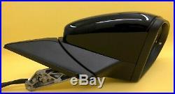 Vw Golf Mk7,5 2017-2019 Wing Mirror Power Fold Blind Spot Black Lc9x Right Side