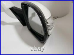 WHITE LEFT DRIVER SIDE MIRROR WithBLIND SPOT FOR MERCEDES C200 C250 C300 C63 15-18