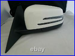 WHITE LEFT DRIVER SIDE MIRROR WithBLIND SPOT FOR MERCEDES COUPE E350 E550 10-17