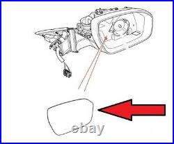 Wing Door Mirror Glass Heated Left Land Range Rover Mk4 Evoque Discovery V Sport